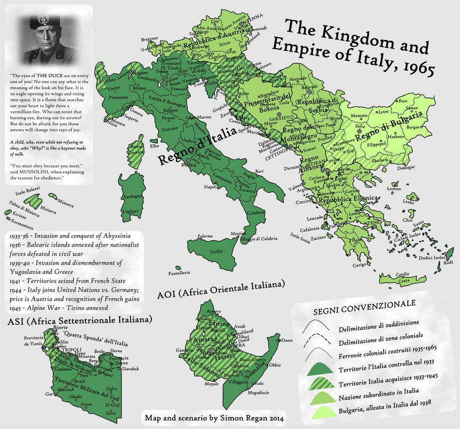 You Must Obey Because You Must An Ah Map By Sregan Map Italy Map Alternate History