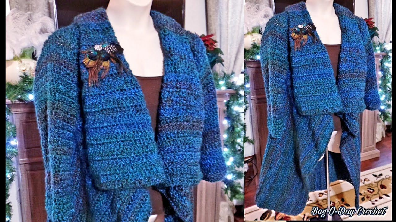 dd521ad2f Learn How to Crochet Ladies Womens Jacket Coat Cover