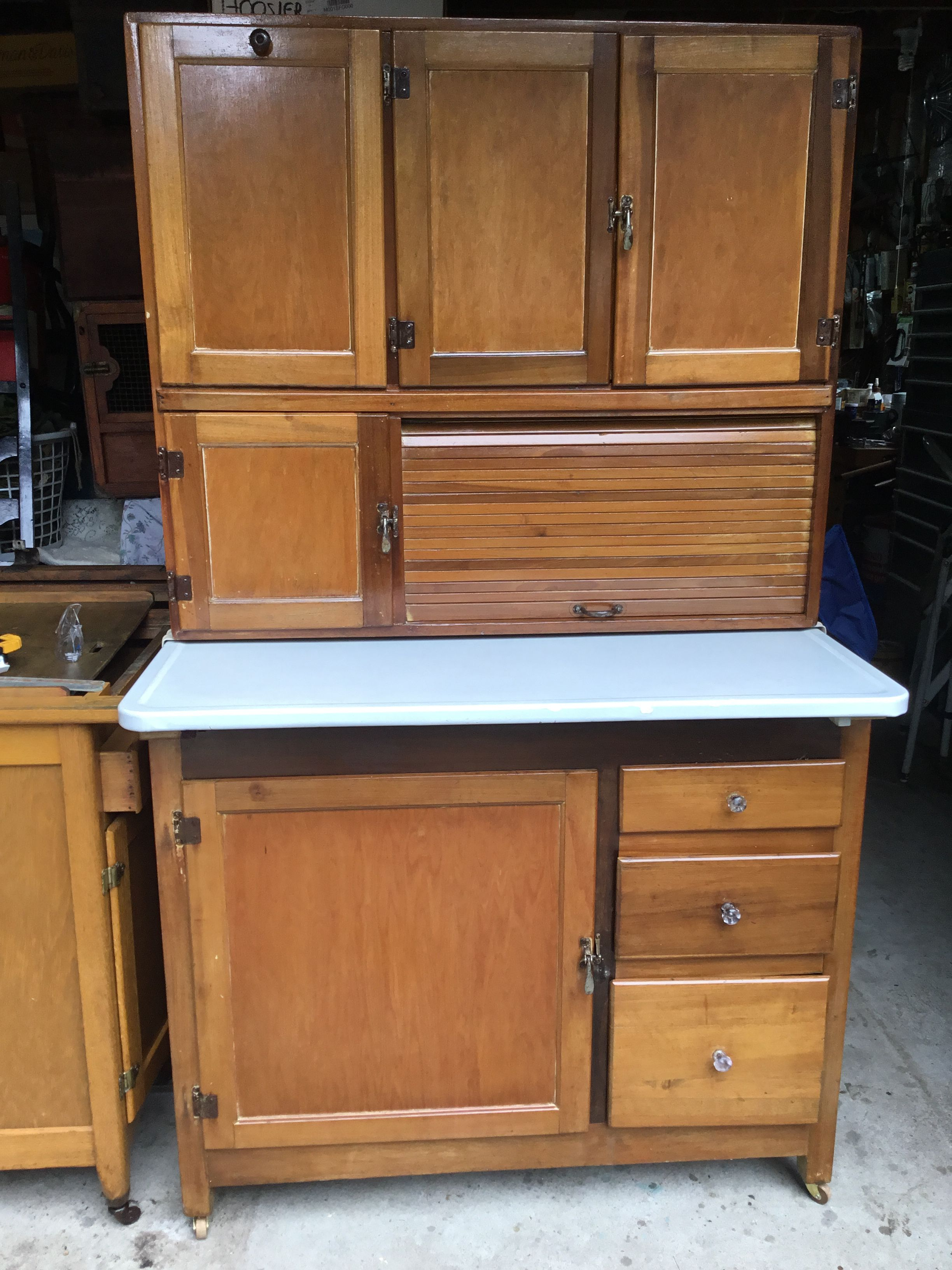Marsh Kitchen Cabinet Made Of Mixed Woods In Original Condition Mixed Wood Cabinet Kitchen Cabinets