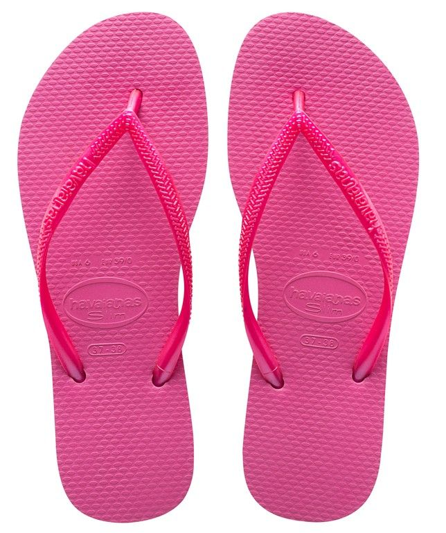 f732fdbbe Complete your bold bikini look with the Havaianas Slim Sandal in bright  neon pink.