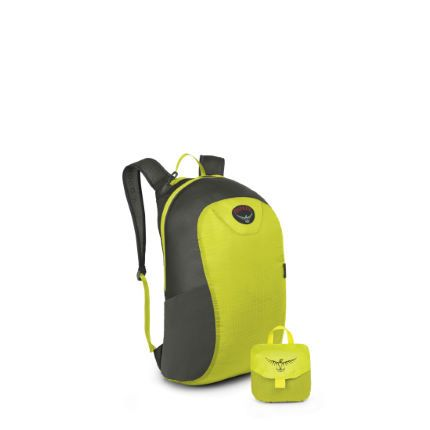 BRAND:  Osprey; ITEM: Ultralight Stuff Pack.  COOL WHY?  Super lightweight, waterproof and packs into its own compact carry case. SRP: £25