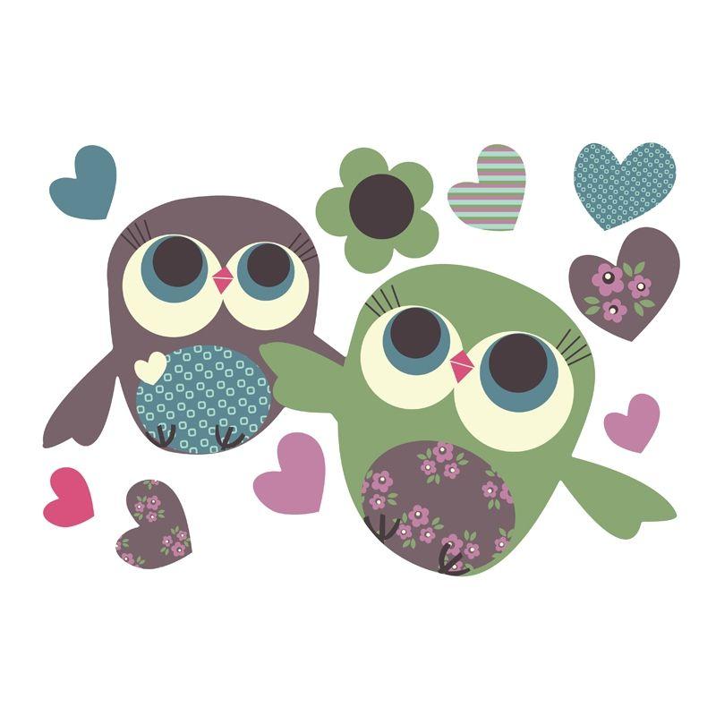 Owls Pair Cute doodles drawings, Owl wallpaper, Fabric wall