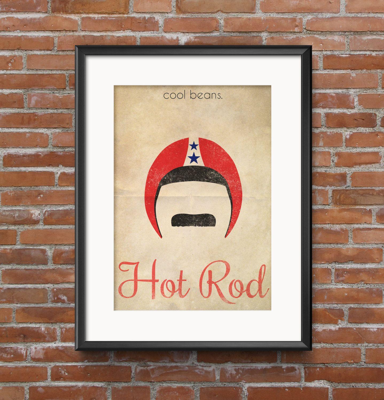 Hot Rod Minimalist Movie Poster with Quote 16x20 12x16 11x14 8x10 ...