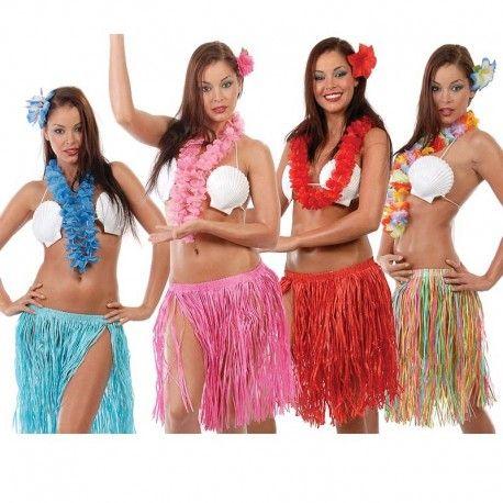 ffab88a8c Disfraces hawaianos mujer   Conjunto hawuaiano para tus fiestas ...