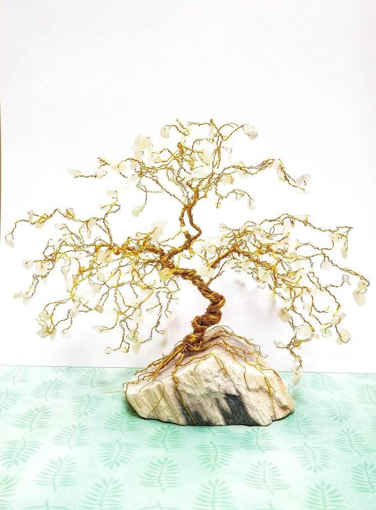 Outstanding Jade Bonsai Gem Tree Petrified Wood Base Wire Tree Sculpture Wiring 101 Photwellnesstrialsorg