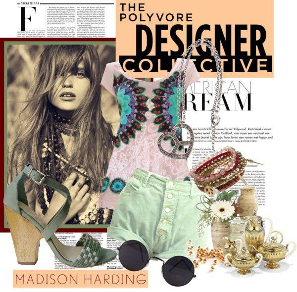 """Urban Bohemian with Madison Harding"" by vaalentiina ❤ liked on Polyvore"