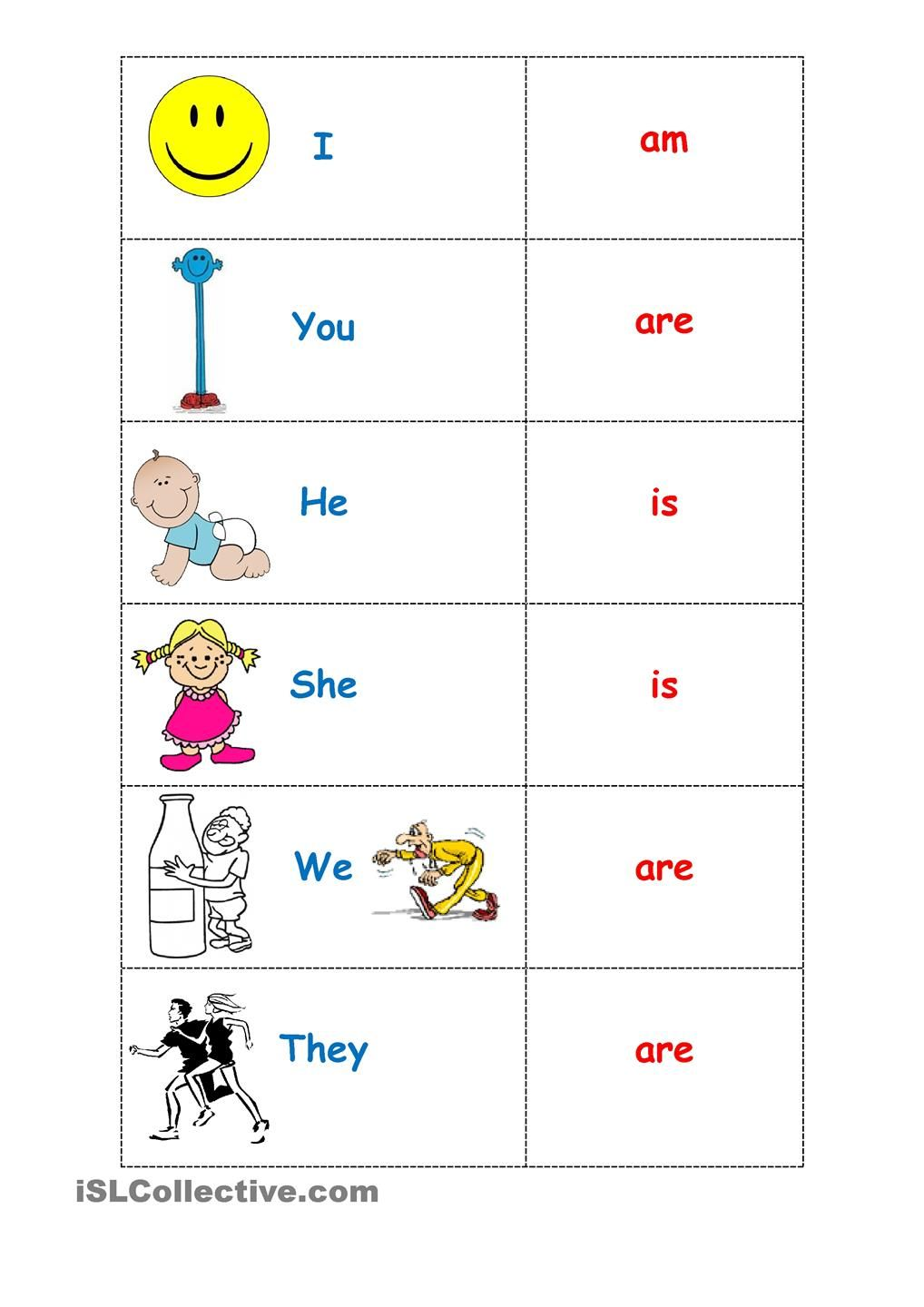To Be Five Pages Includes Lesson Ideas English Pronouns Learning English For Kids Learn English