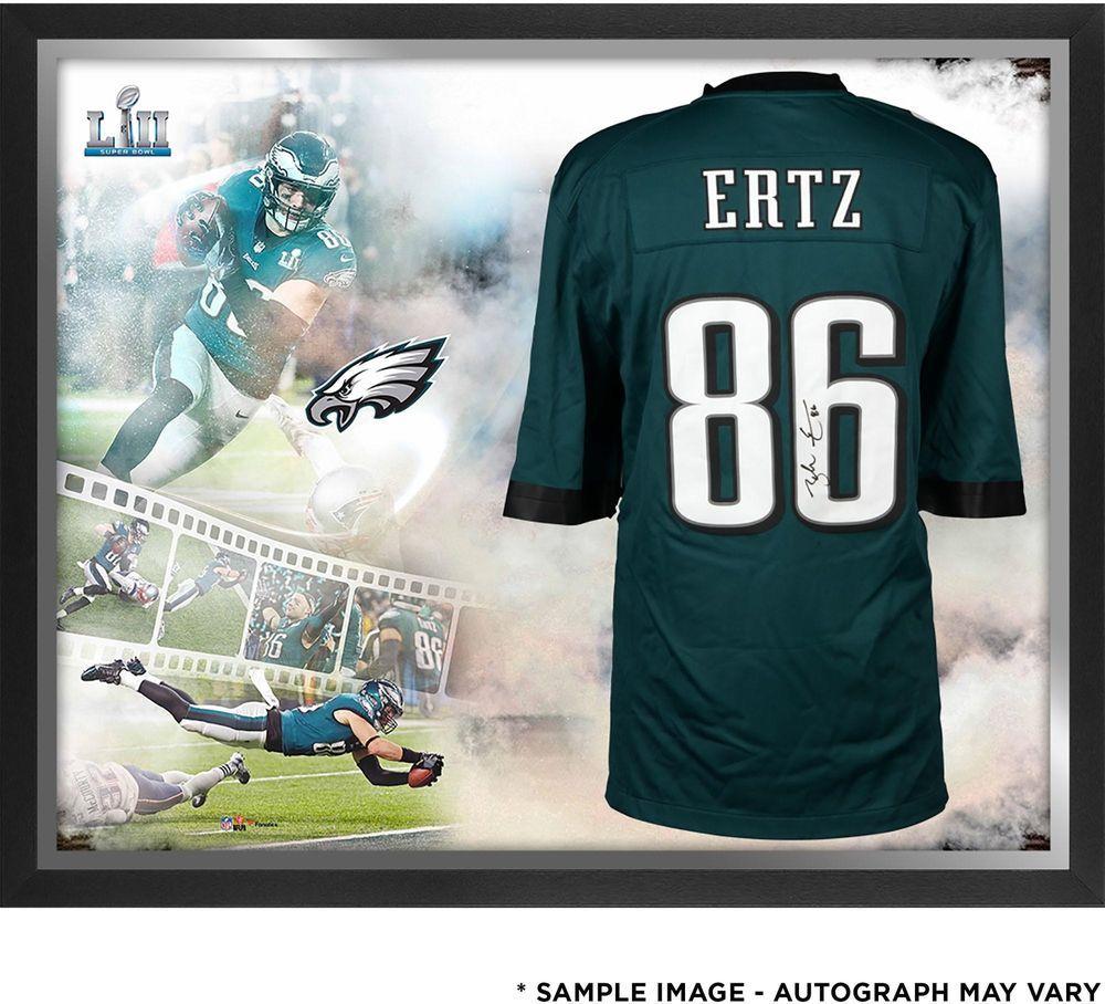 1d8d3f1ce4d Zach Ertz Eagles SB LII Champs Signed Green NFL Pro-Line Jersey Coll -  Fanatics
