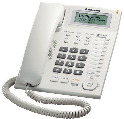 Panasonic Kx Ts880w Integrated Corded Telephone Phone Phones For Sale Telephone