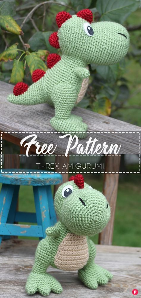 T-Rex Amigurumi - Pattern Free in 2020 (With images ...