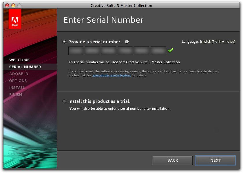 Adobe Premiere Pro CS5 license width=