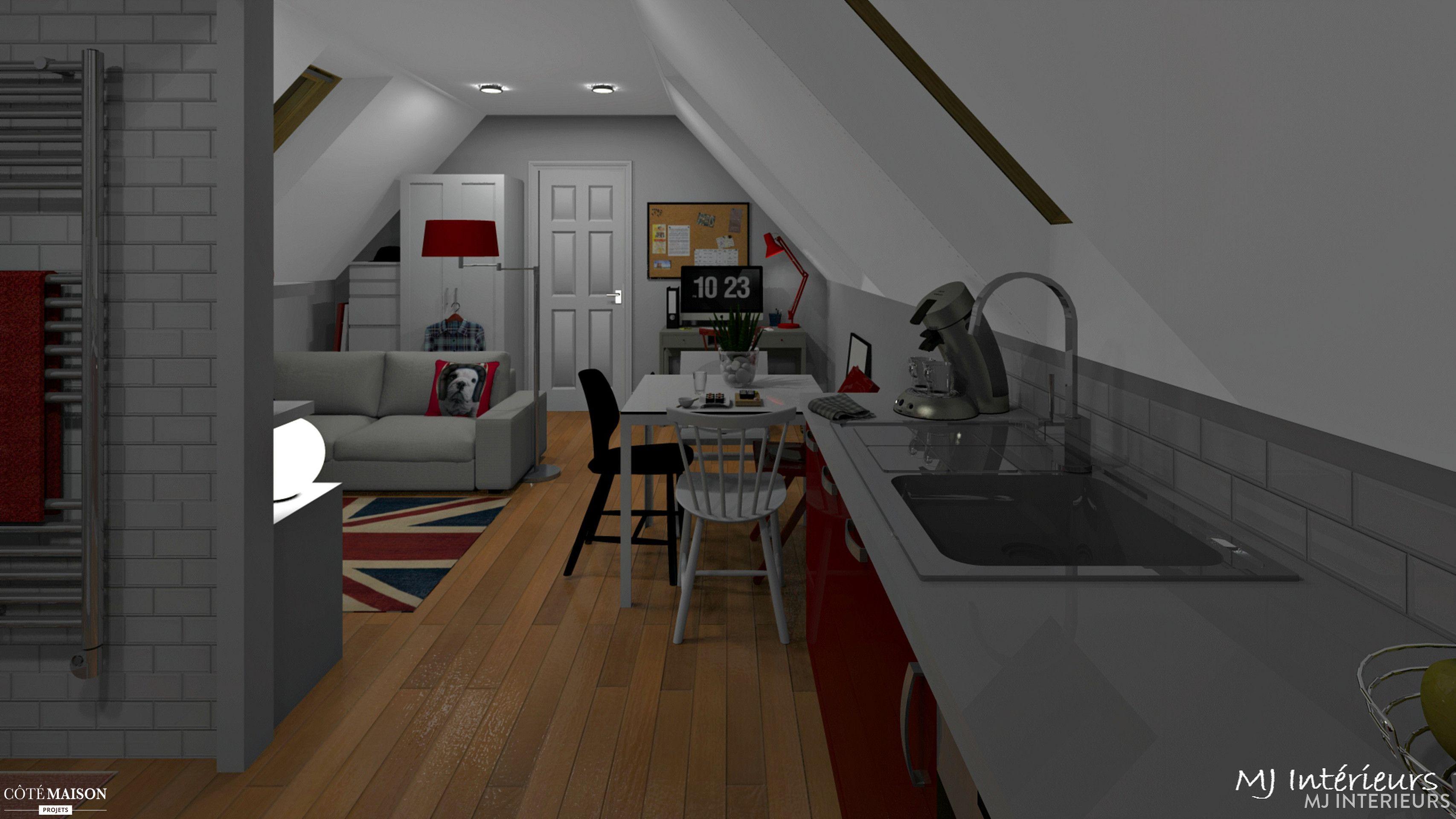 Comment caser dans moins de m² au sol en sous pentes un salon