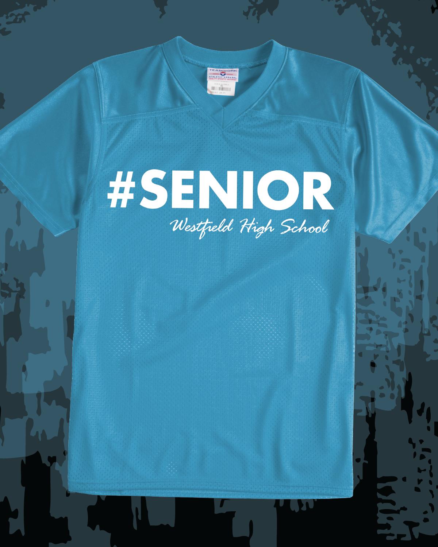f61c19b20 Senior custom football jersey - design idea for custom class shirts -  school spirit