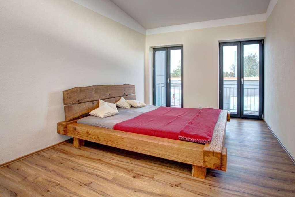 """Balkenbett in Eiche """"natürlichem Design individueller"""