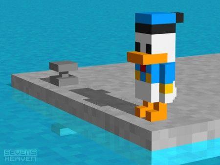 3d Pixel Art Voxelsdonald Duck Cubic Cubistic Cubism