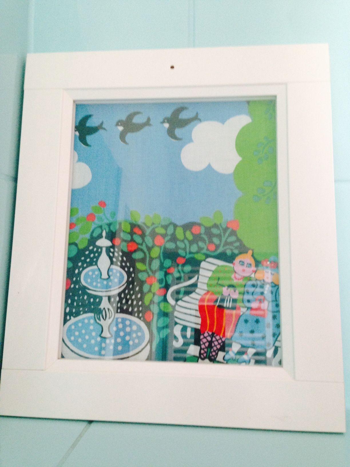 A framed piece of cloth | Ein Stück Stoff im  Bilderrahmen