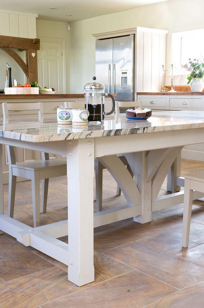 Handmade Table With Matching Granite Countertop Handmadetable