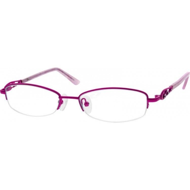 70d4ef5977f Metal alloy half-rim frames for women with silicon adjustable nose pads and  acetate temple
