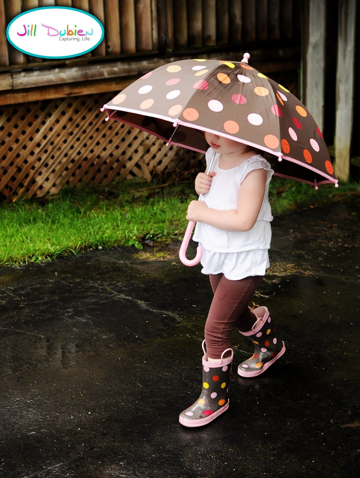 Every little girl should have an umbrella and matching pair of rain boots! (you should see the food crafts this creative mom makes on her Meet the Dubiens blog!)