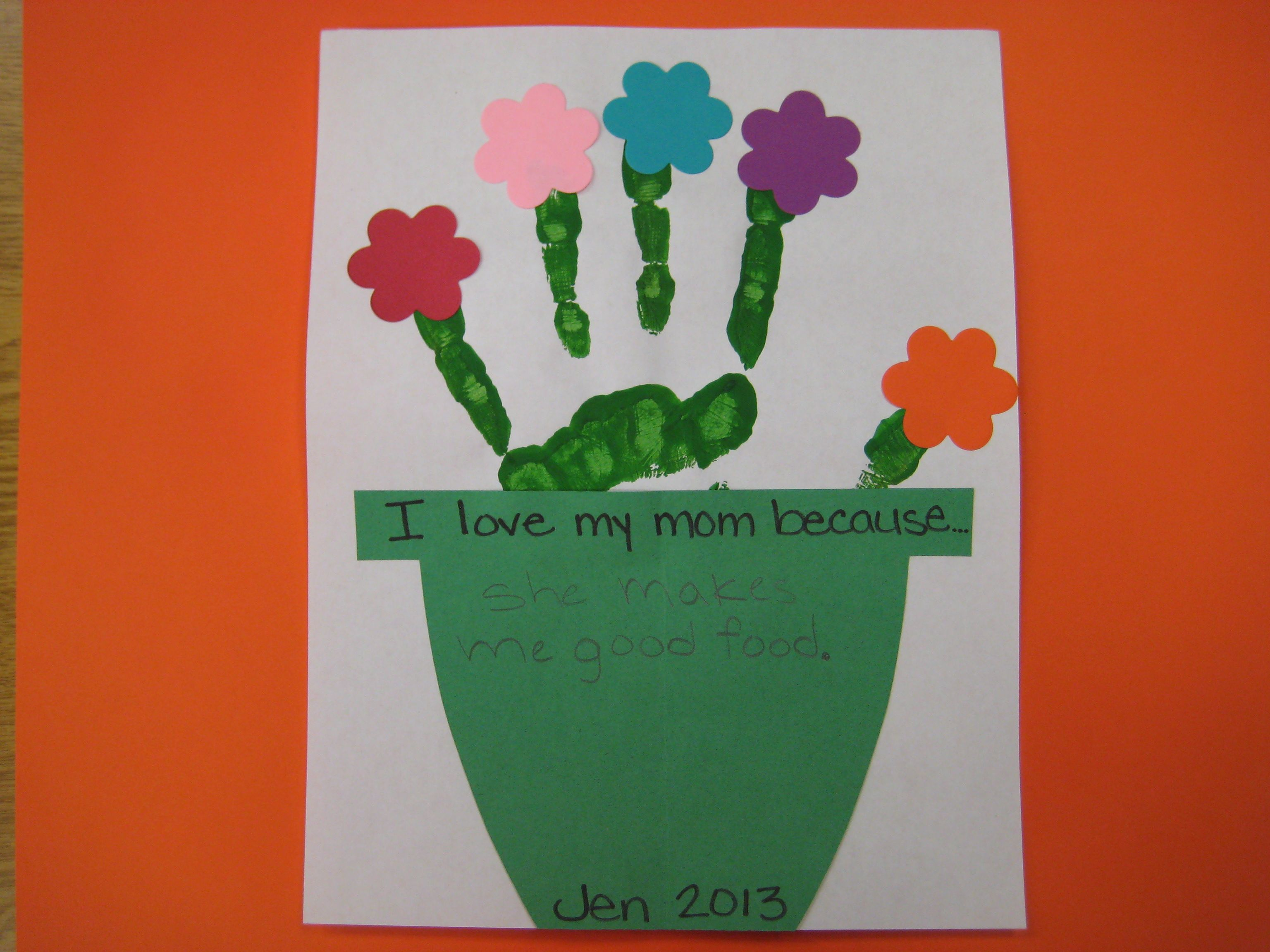 Handprint Flowerpot Craft This Could Be Used For Creative Writing,