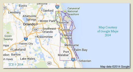 Palm City Florida Map.Brevard County Florida Map Courtesy Google 2014 Tcb Treasure