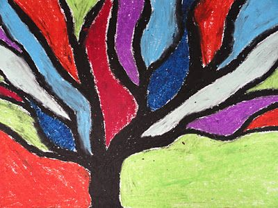 SINKING SPRINGS ART: Abstract Trees Inspired by Piet Mondrian