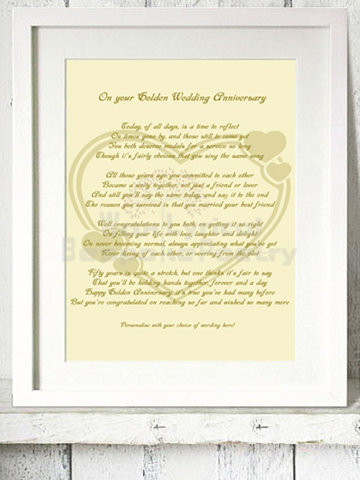 Pin by Laine Wolf on 50 Wedding anniversary poems