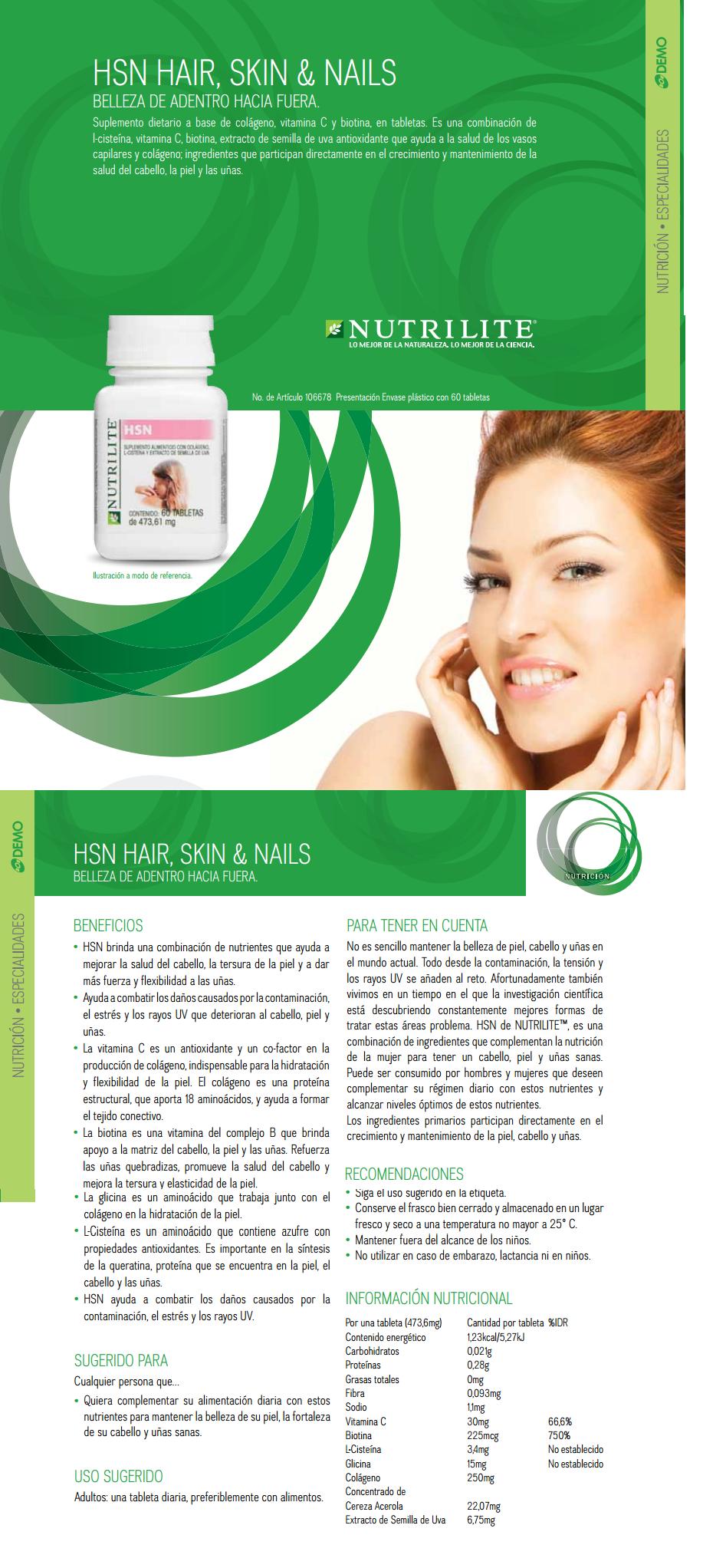 HSN Amway Nutrilite, HSN HSN contiene ingredientes que pueden ayudar ...