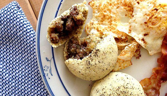 Paleo Bison-Stuffed Black Pepper Biscuits | Grok Grub - Paleo Recipes and Living