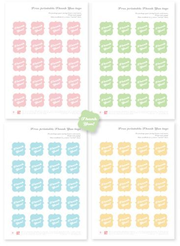 Printable thank you tags for favors free first communion pinterest favors and communion for Free printable baby shower thank you tags