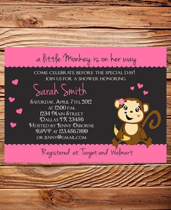 Monkey baby shower invitation boy girl girl by stellardesignspro monkey baby shower invitation boy girl girl by stellardesignspro 1800 filmwisefo