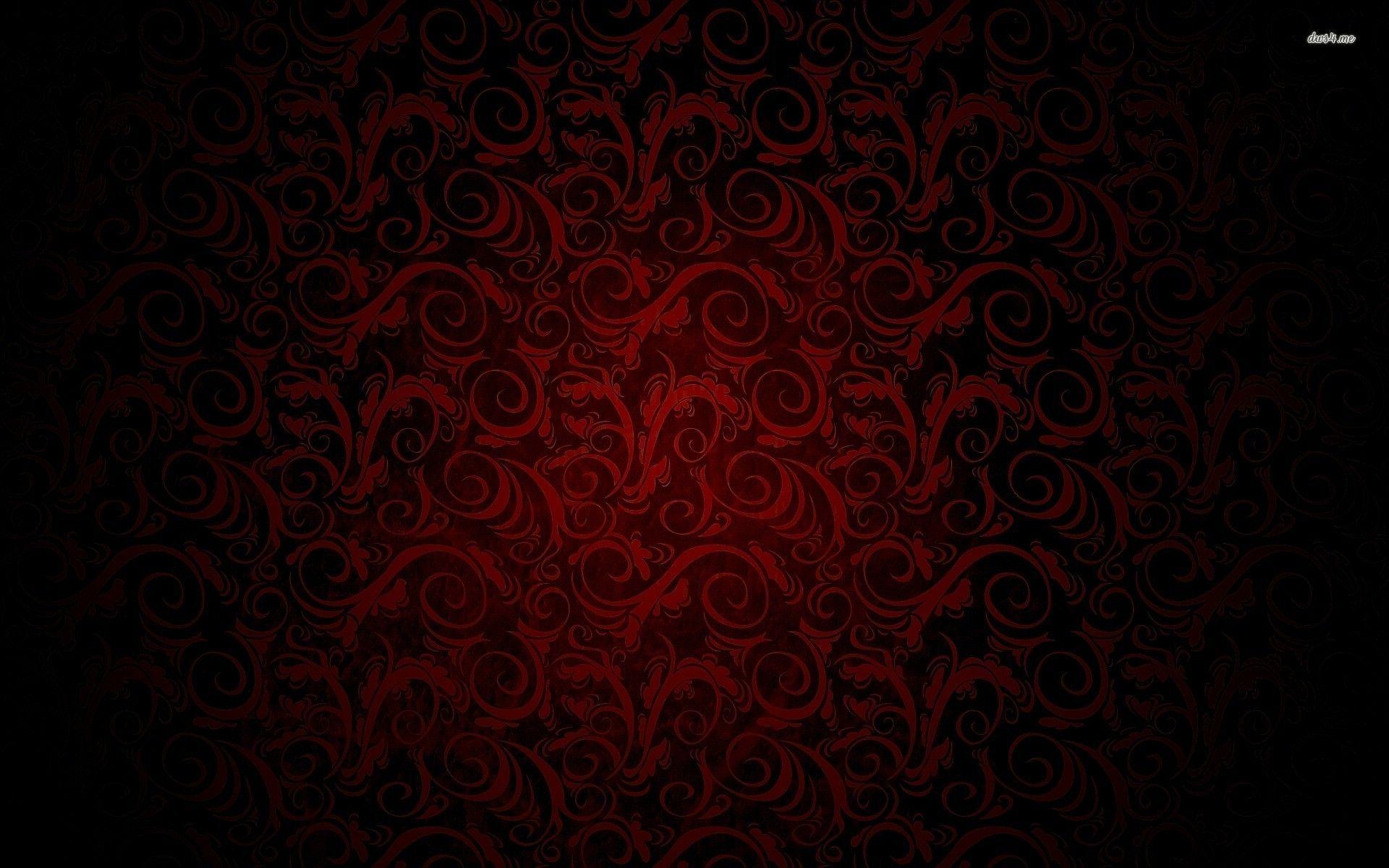 Swirling Royal Red And Black Pattern Wallpaper Royal Pattern
