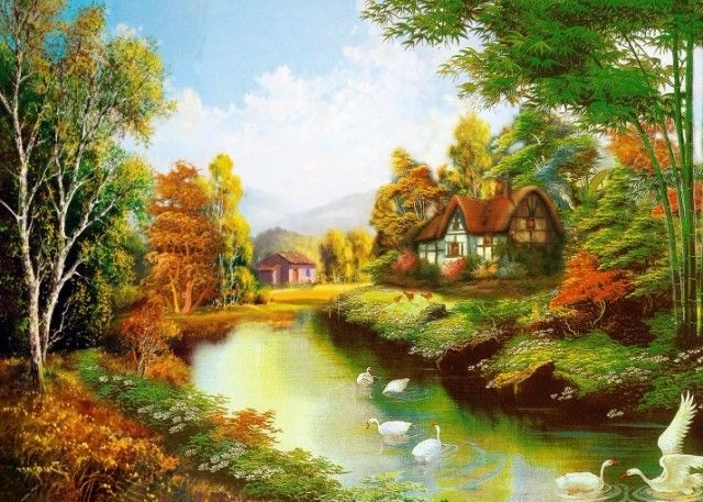 Popular Beautiful Painting Wallpaper From China Best Selling Beautiful Painting Wallpaper Beautiful Paintings Of Nature Painting Wallpaper Beautiful Paintings