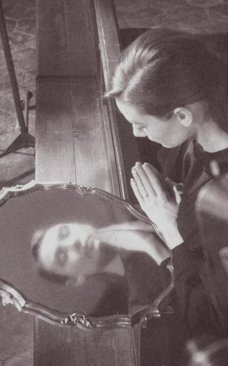 """A rare picture of Audrey Hepburn, taken during the filming of """"The Nun's Story"""" (Rome, 1958)"""