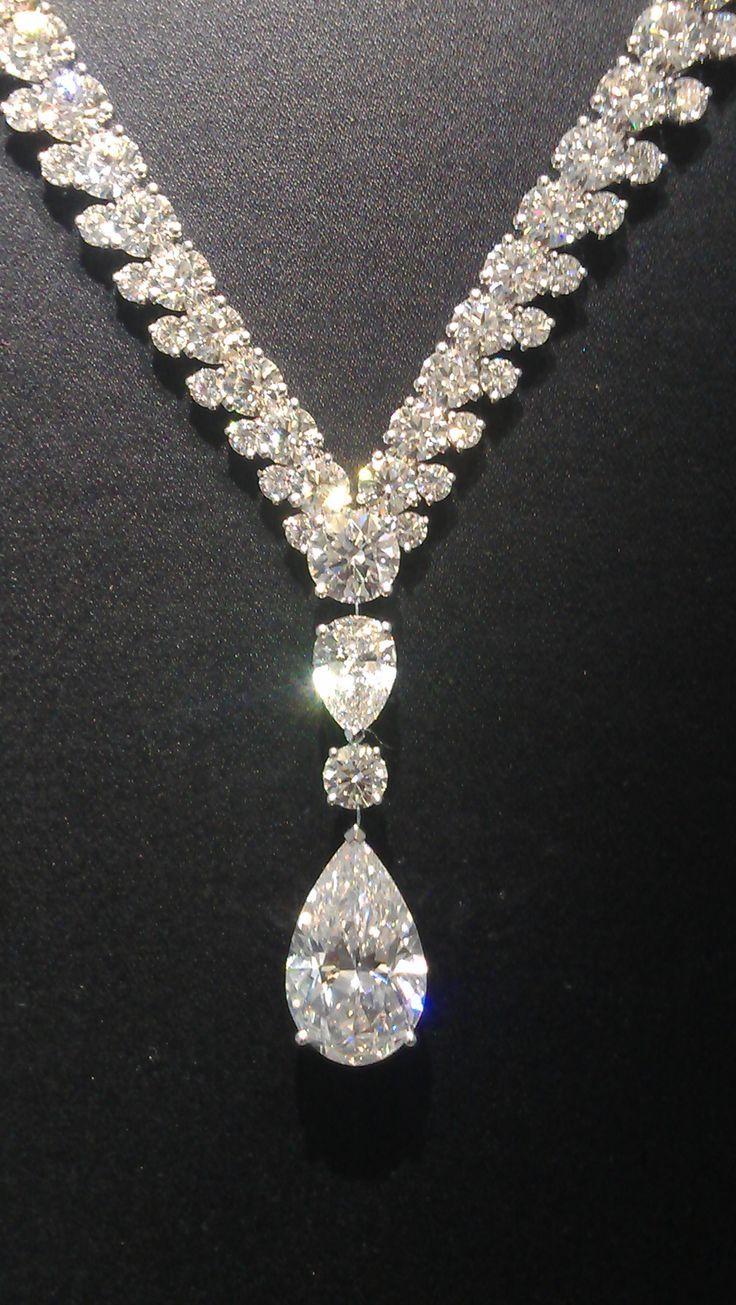 Magnificent De Beers Phenomena Reef necklace with and 8.49 carat pear cut diamond   // - Maria Elena Garcia - ► www.pinterest.com... ◀︎