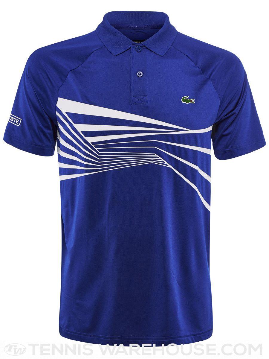 Lacoste Men S Novak Djokovic Center Geo Polo Dart Shirts Lacoste Men Polo