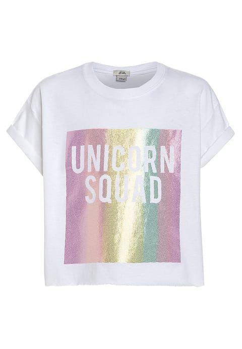 7b31cd9682e9a4 River Island UNICORN SQUAD - T-Shirt print - white für 14