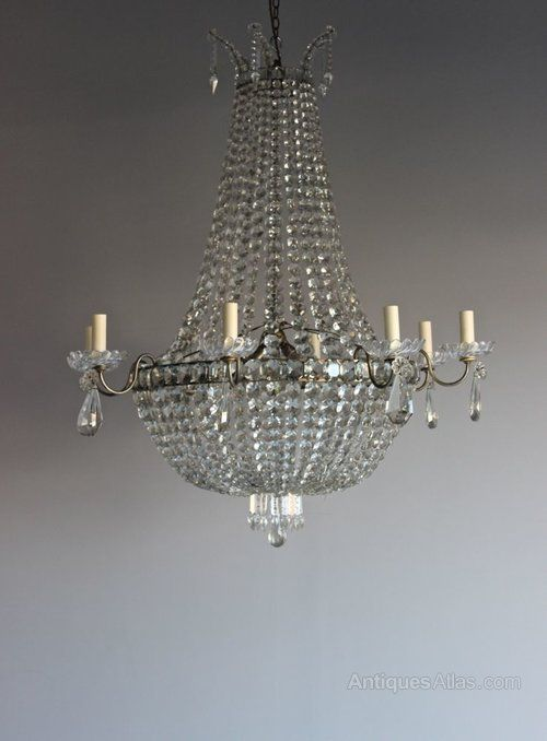 Antiques atlas large crystal italian chandelier