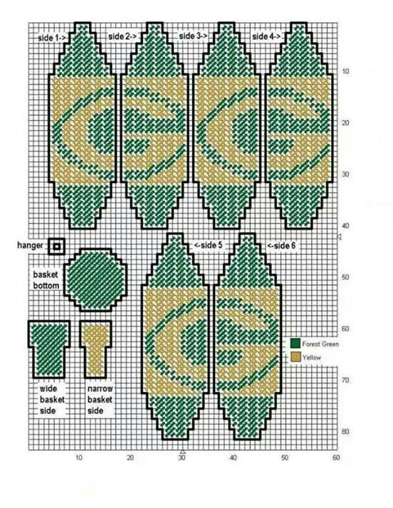 Green Bay hot air balloon Plastic canvas patterns