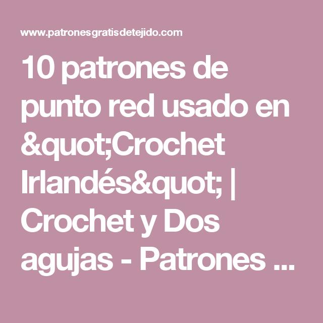 10 patrones de punto red usado en \