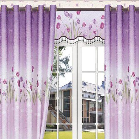 Good Dreamy Lavender Floral Blackout And Thermal Curtains (Two Panels)