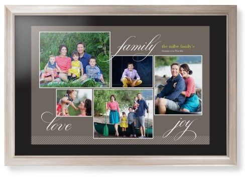 Family Sentiments Framed Print, Metallic, Modern, Black, Black, Single piece, 20 x 30 inches, Brown