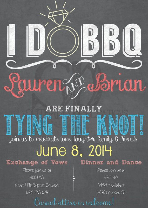 I Do Bbq Wedding Invitation
