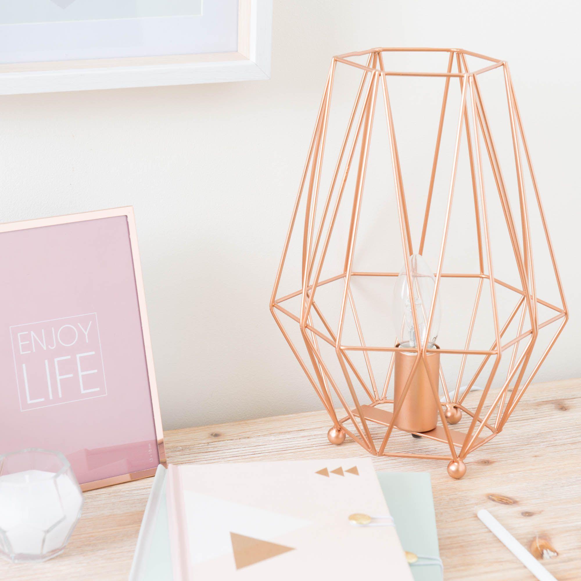 elegant lampe en mtal h cm origami copper maisons du monde. Black Bedroom Furniture Sets. Home Design Ideas