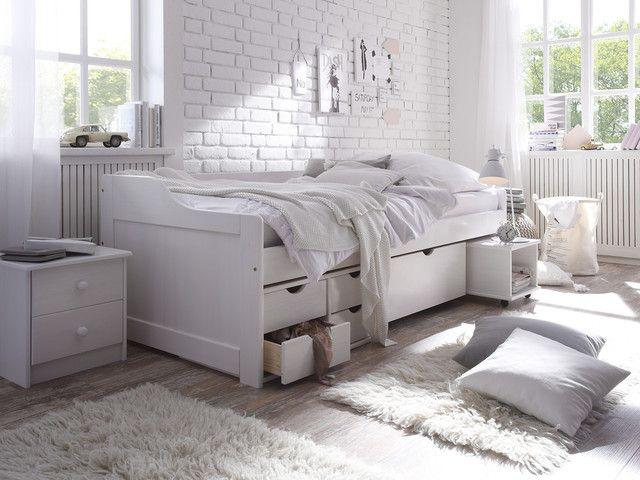Bett Pinea 90x200 Bett Einzelbett Bett Mit Lattenrost