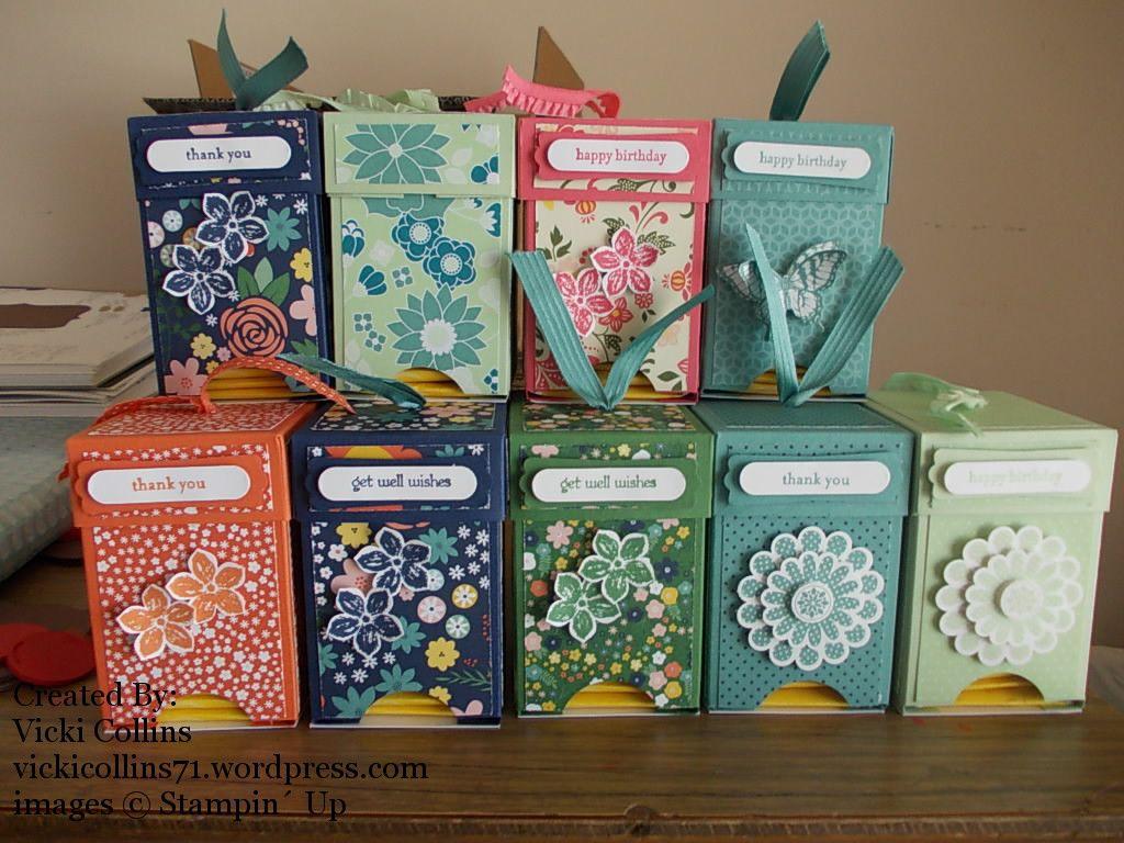 Mini Tea Bag Caddy Tutorial Tea gifts, Paper crafts