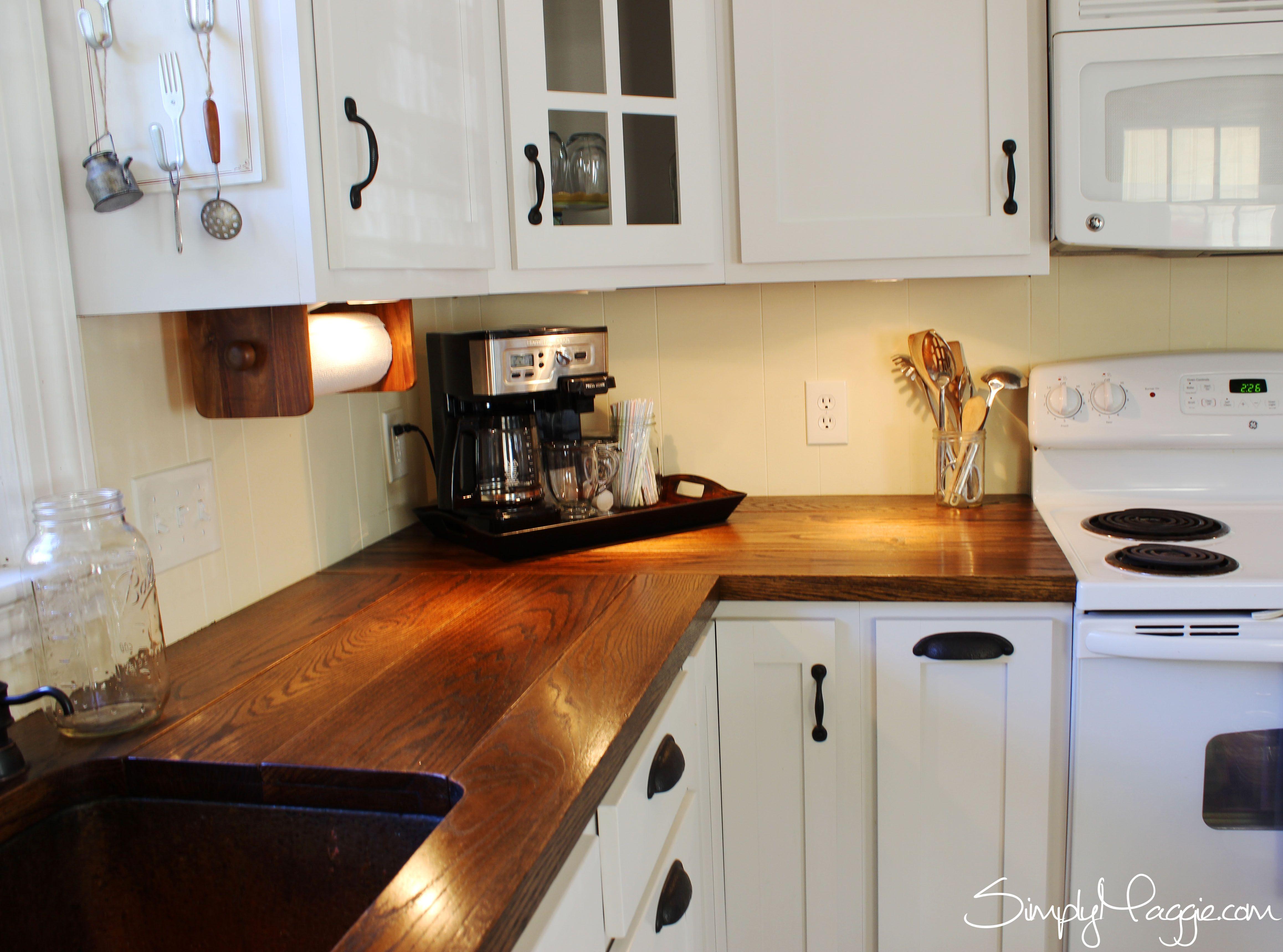 under cabinet lighting diy wide plank butcher block