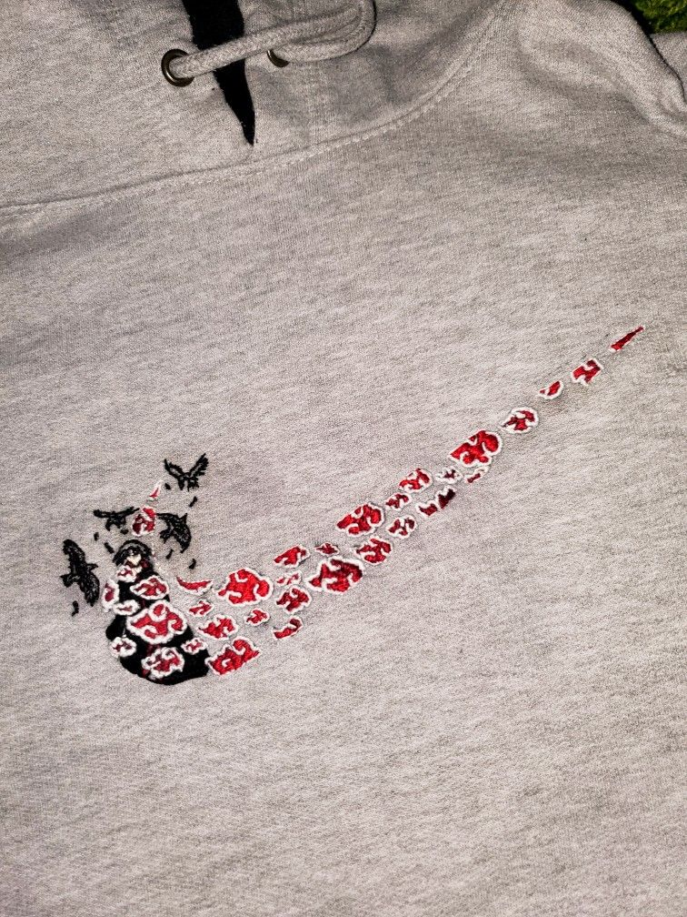 Nike X Naruto Embroidery In 2020 Diy Embroidery Patterns Diy Embroidery Designs Diy Embroidery Shirt