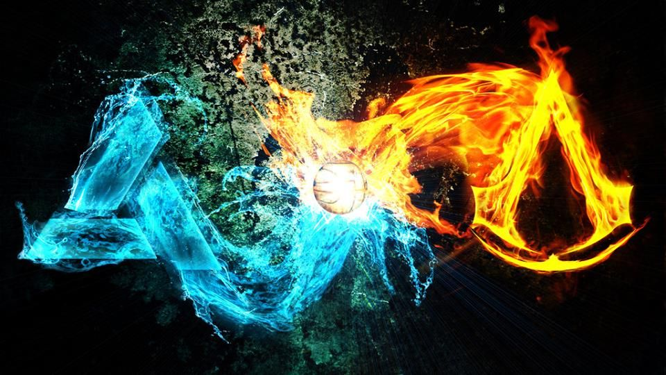Ac Fire Vs Water Cool Images Hd Gaming Wallpapers Best Gaming Wallpapers