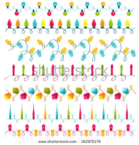 Christmas light bulbs Set - for design and scrapbook - in vector - stock vector
